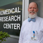 Philip Mayeux, Ph.D. outside the Biomedical Research Center